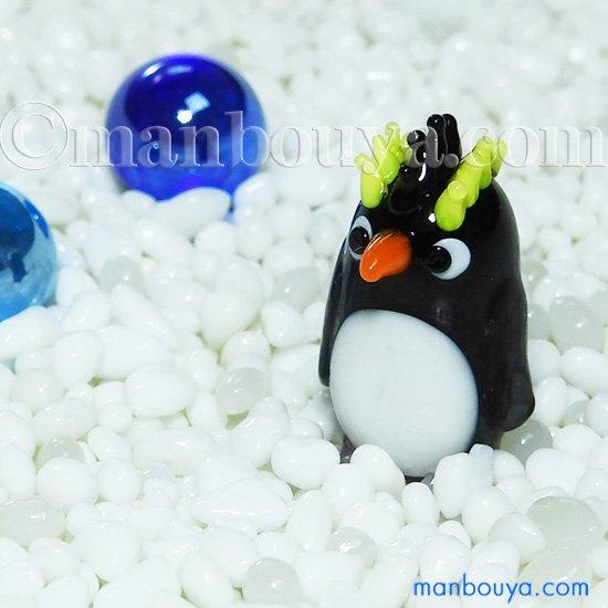 ペンギン グッズ ガラス細工 ミニチュア 雑貨 水族館 グラススクエア イワトビペンギン A
