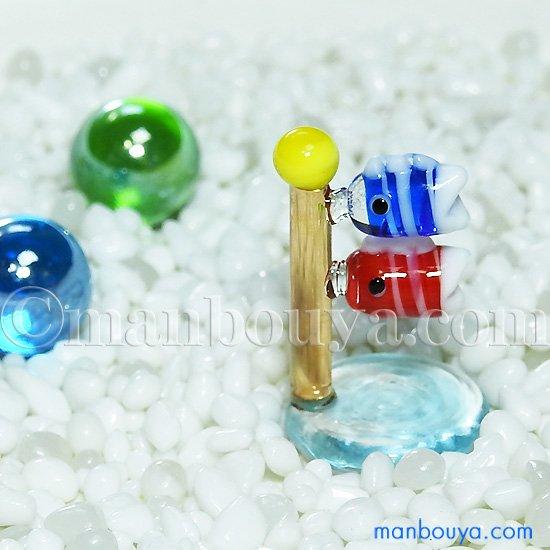 鯉のぼり ガラス細工 ミニチュア 雑貨  グラススクエア こいのぼり 小