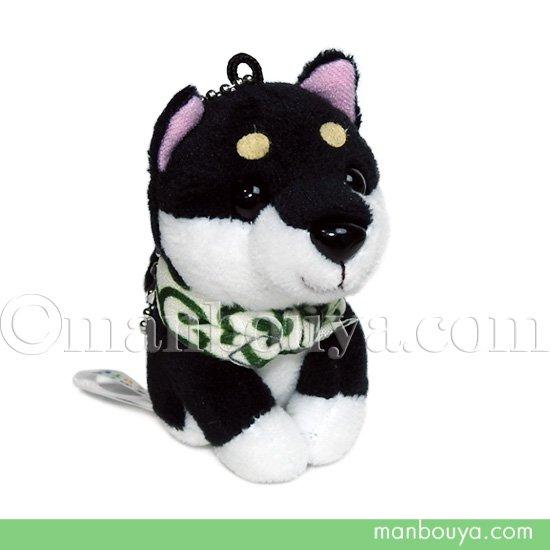 犬のぬいぐるみ 黒 豆柴 キュート販売 CUTE ボールチェーン ブラック 9cm