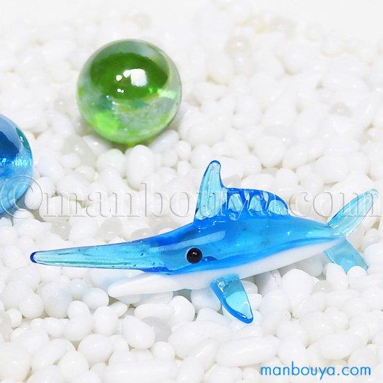 魚 ミニチュア ガラス細工 海の生き物 水族館 グッズ フォーカート カジキ