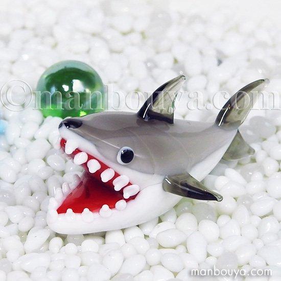 サメ グッズ ガラス細工 ミニチュア 雑貨 水族館 フォーカート 人食い鮫