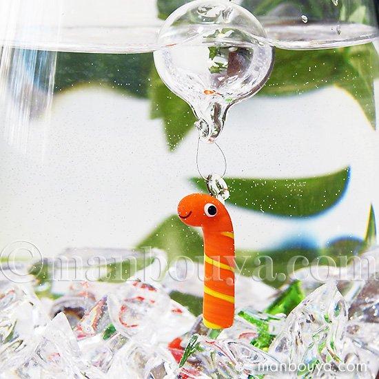 ニシキアナゴ グッズ インテリア 雑貨 フロート 浮き玉 ガラス細工 海の生き物 浮き球 錦あなご