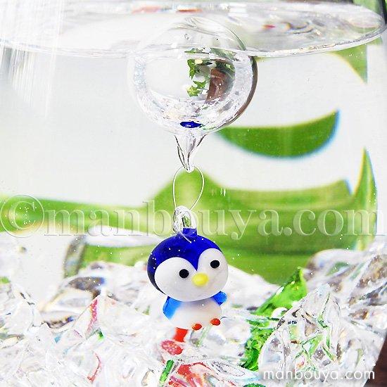 ペンギン グッズ ミニチュア ガラス細工 浮き玉 フロート フォーカート 浮き球 ぺんぎん 立ち