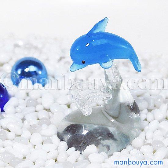 イルカ グッズ ミニチュア ガラス細工 雑貨 水族館 フォーカート ジャンピングドルフィン