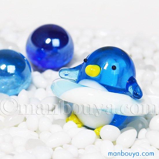 ペンギン グッズ ガラス細工 ミニチュア 雑貨 水族館 ぺんぎん 浮き輪 ジョイラッククラブ