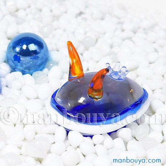 ウミウシ グッズ ガラス細工 ミニチュア 雑貨 海の生き物 アオウミウシ ジョイラッククラブ