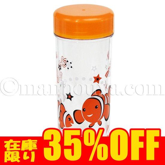 水族館グッズ クリアボトル プラスチック 水筒 ウォーターボトル ハッピーアクアリウム  クマノミ オレンジ