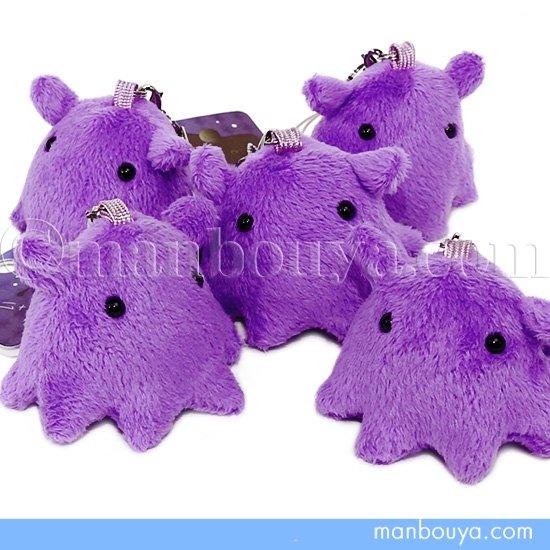 メンダコのぬいぐるみ 紫 A-SHOW 栄商 深海魚 シリーズ メンダコ 携帯ストラップ パープル 4.5cm