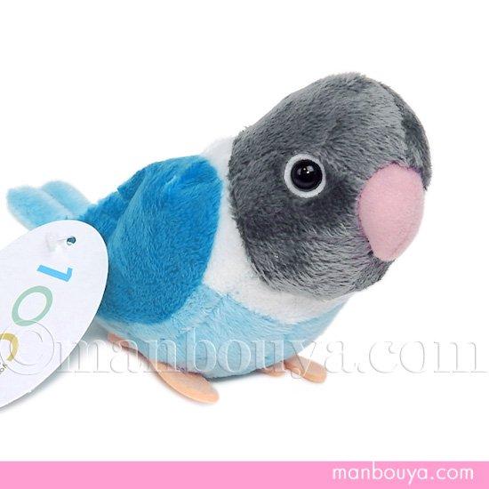 インコ ぬいぐるみ 小鳥 雑貨 TST 101 ボタンインコ ブルー 16cm