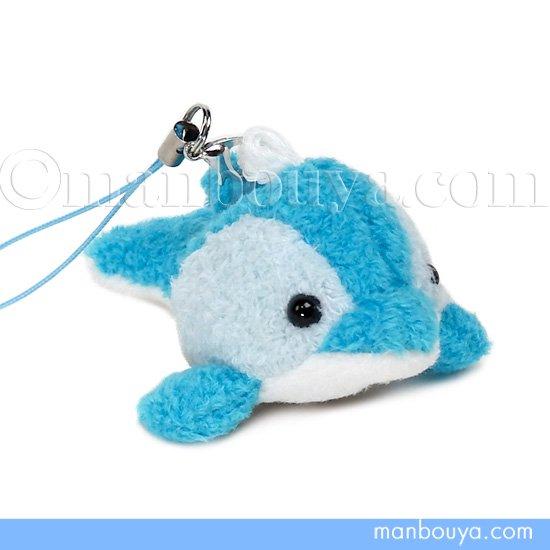 イルカ ぬいぐるみ スマホ 携帯 液晶クリーナー ストラップ マスコット  キュート販売 CUTE いるか ブルー 6cm