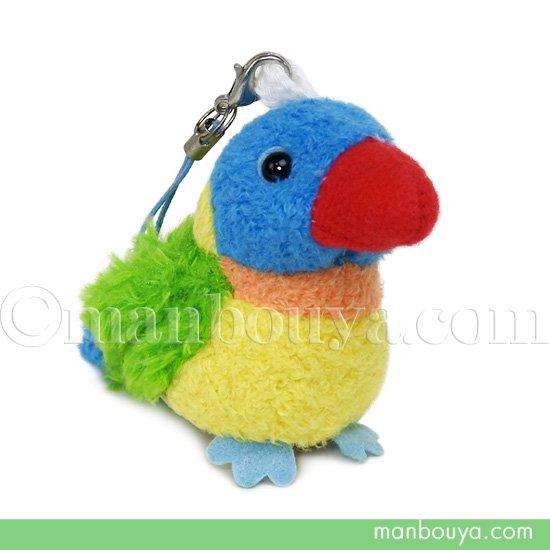 鳥 インコ ぬいぐるみ スマホ 携帯 液晶クリーナー ストラップ マスコット  キュート販売 CUTE ゴシキセイガイインコ 5.5cm