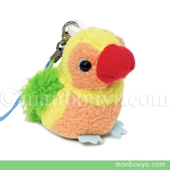鳥 インコ ぬいぐるみ スマホ 携帯 液晶クリーナー ストラップ マスコット  キュート販売 CUTE くちばし赤 5.5cm