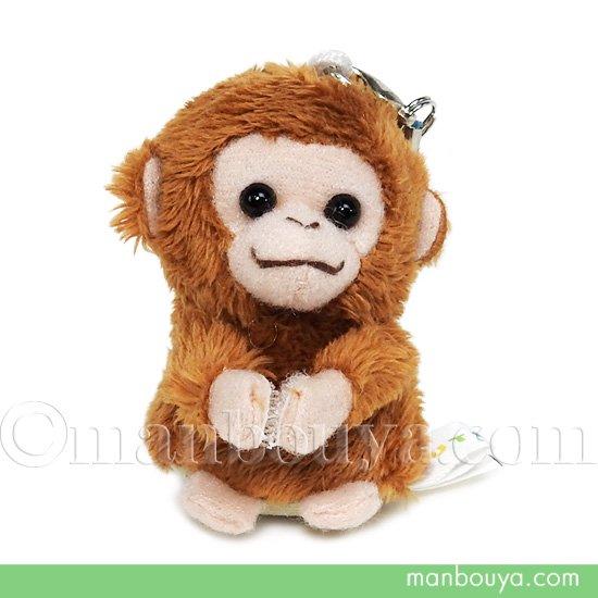 サル ぬいぐるみ 動物 スマホ 携帯 液晶クリーナー ストラップ マスコット  キュート販売 CUTE さる 5.5cm