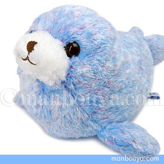 アザラシ ぬいぐるみ グッズ 水族館 お土産 キュート販売 CUTE アストラアザラシ ブルー M 36cm