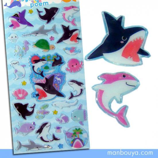 【サメのシール】ぷっくり可愛いキャンディーポップ◆オーシャンシンフォニックポエム◆シャーク