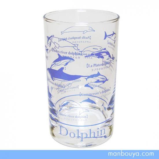 【イルカグッズ】グラス/ガラス製コップ◆サンセラ工芸◆イルカ図鑑タンブラー