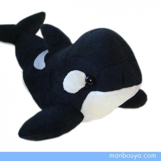【シャチのぬいぐるみ】Ishiwata◆元気なオルカのぬいぐるみ◆Mサイズ◆35cm