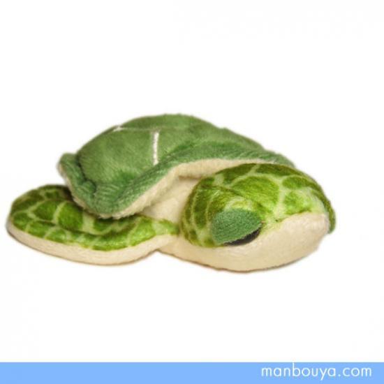 【カメのぬいぐるみ】A-SHOW(栄商)◆リルビーン◆海がめグリーン◆Sサイズ12cm