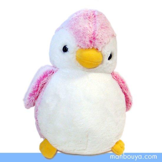 【ペンギンのぬいぐるみ】AURORA(オーロラ)パウダーキッズ◆ペンギンピンク(M)30cm