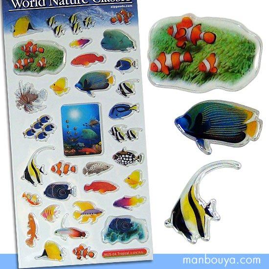 【熱帯魚のシール】綺麗なリアルデザイン◆AIPワールドネイチャークラシック◆トロピカルフィッシュ