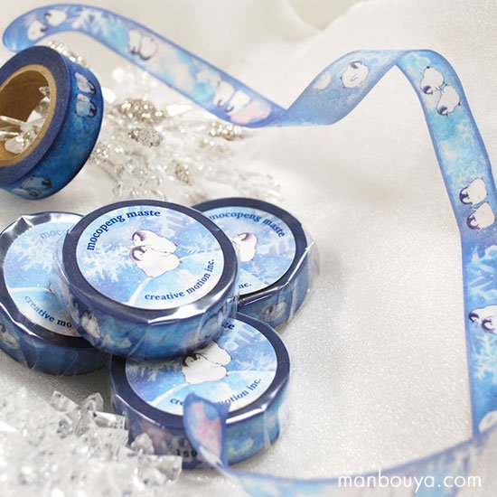 【もこぺんグッズ】かわいいペンギン雑貨◆銀河雪シリーズ◆マスキングテープ