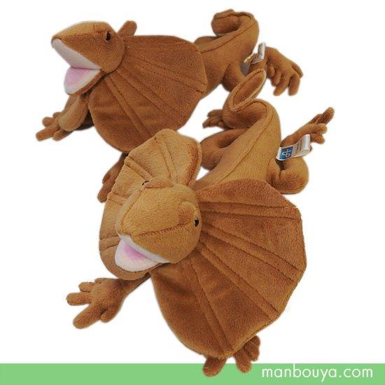 【エリマキトカゲのぬいぐるみ】グッズ◆爬虫類◆A-SHOW(栄商)◆襟巻とかげ25cm