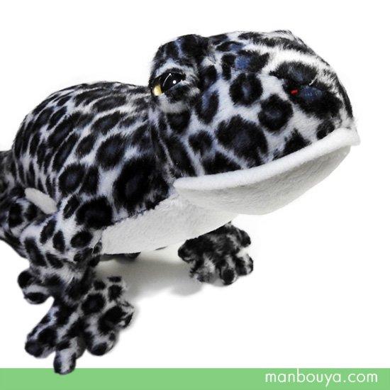 トカゲ ぬいぐるみ レオパードゲッコー 爬虫類 ヤモリ A-SHOW ヒョウモントカゲモドキ ブラック 32cm