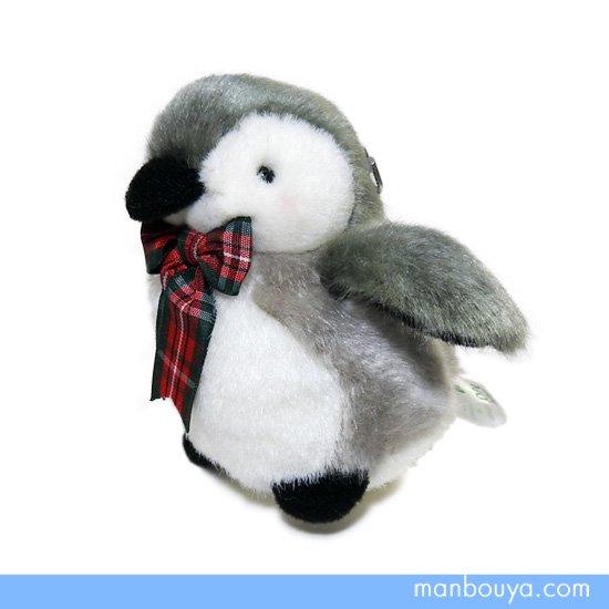 【ペンギングッズ】ぬいぐるみ◆たけのこ(TAKENOKO)プチキーチェーン◆ペンギン リボン赤 10cm