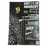 ANARCHY / MY WORDS ポスター