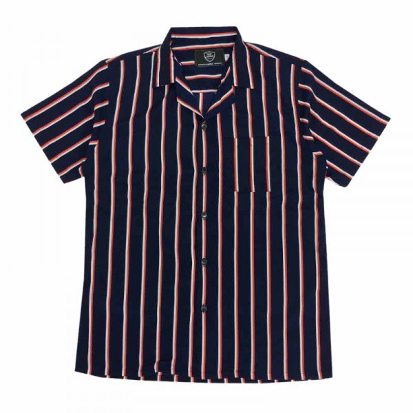 VINTAGE & HAWAII SHIRTS PINSTRIPE NAVY
