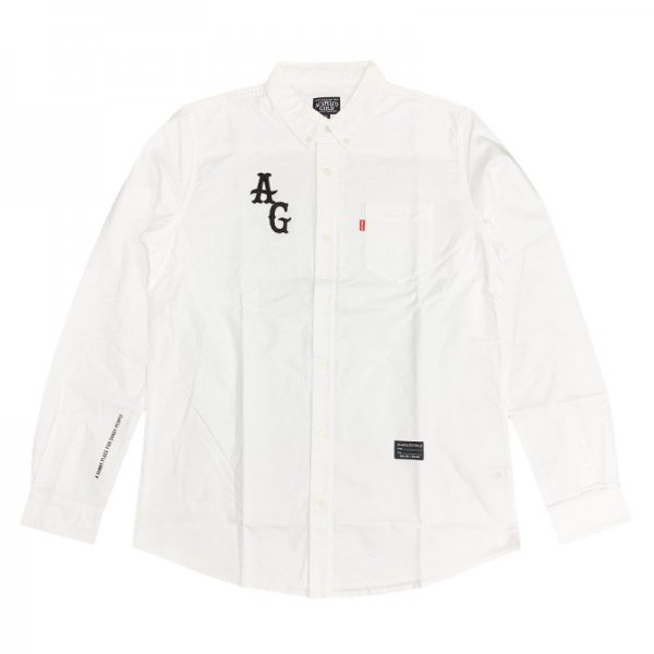 <img class='new_mark_img1' src='//img.shop-pro.jp/img/new/icons8.gif' style='border:none;display:inline;margin:0px;padding:0px;width:auto;' />ACAPULCO GOLD / AG APPLIQUE OXFORD BD SHIRTS
