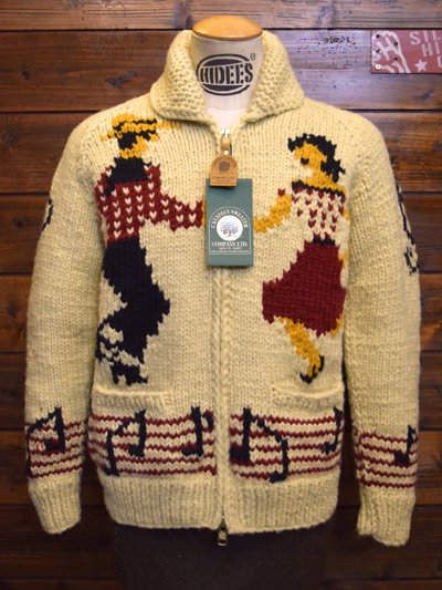 HI-DEE'S meets CANADIAN SWEATER/カナディアンセーター  Cowichan Zip Sweater -DANCING -
