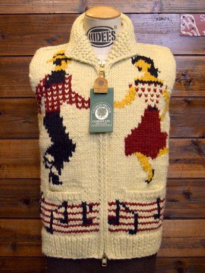 HI-DEE'S meets CANADIAN SWEATER/カナディアンセーター  Cowichan Zip Vest -DANCING -