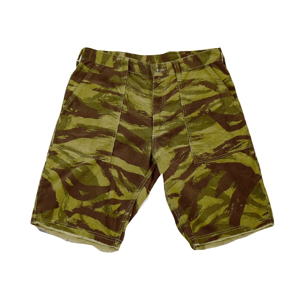ANDFAMILY'S/  LIZARD CAMO CUTOFF PANTS -OL-