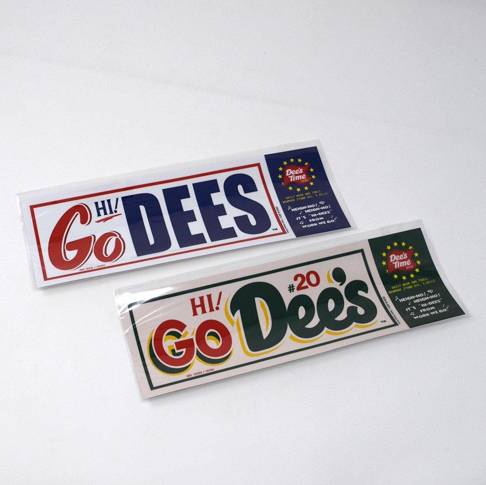 HI-DEE'S / GO! DEES Bumper Decal