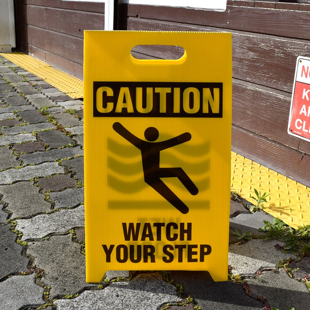 See All / Reversible Floor Signs - Caution Wet Floor/Watch Your Step