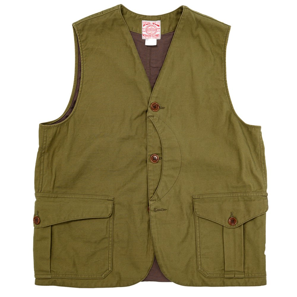 WORKERS K&TH /  Cruiser Vest, Reversed Sateen, Reactive dyeing, Coyote