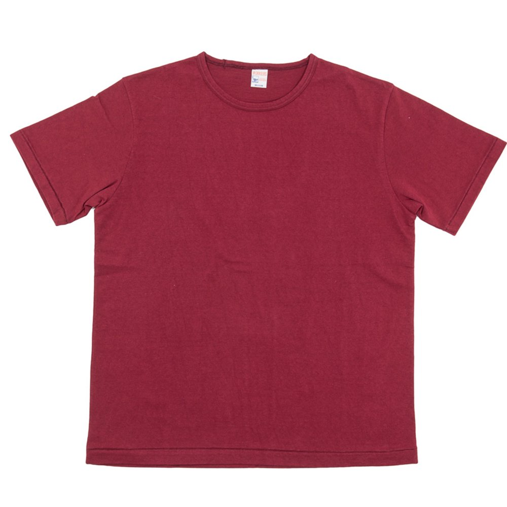 WORKERS K&TH / Crew Neck T, Burgundy