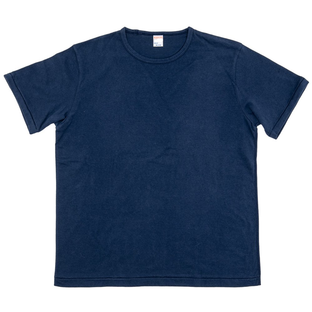 WORKERS K&TH / Crew Neck T, Navy