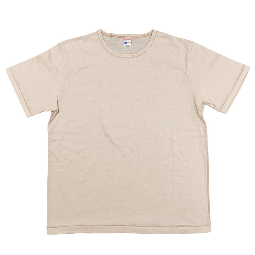 WORKERS K&TH / Crew Neck T, Oatmeal