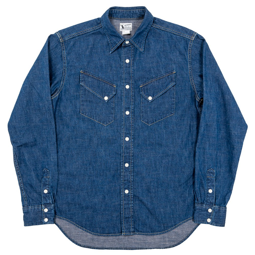 WORKERS K&TH /  Western Shirt, 8 oz Indigo denim, Washed