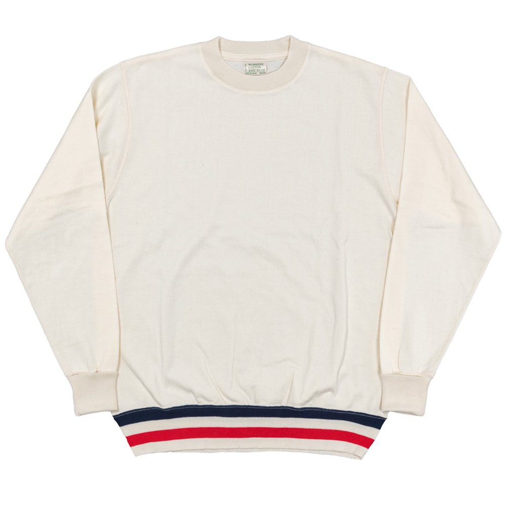 WORKERS K&TH /  FC high gauge Knit, Crew, White