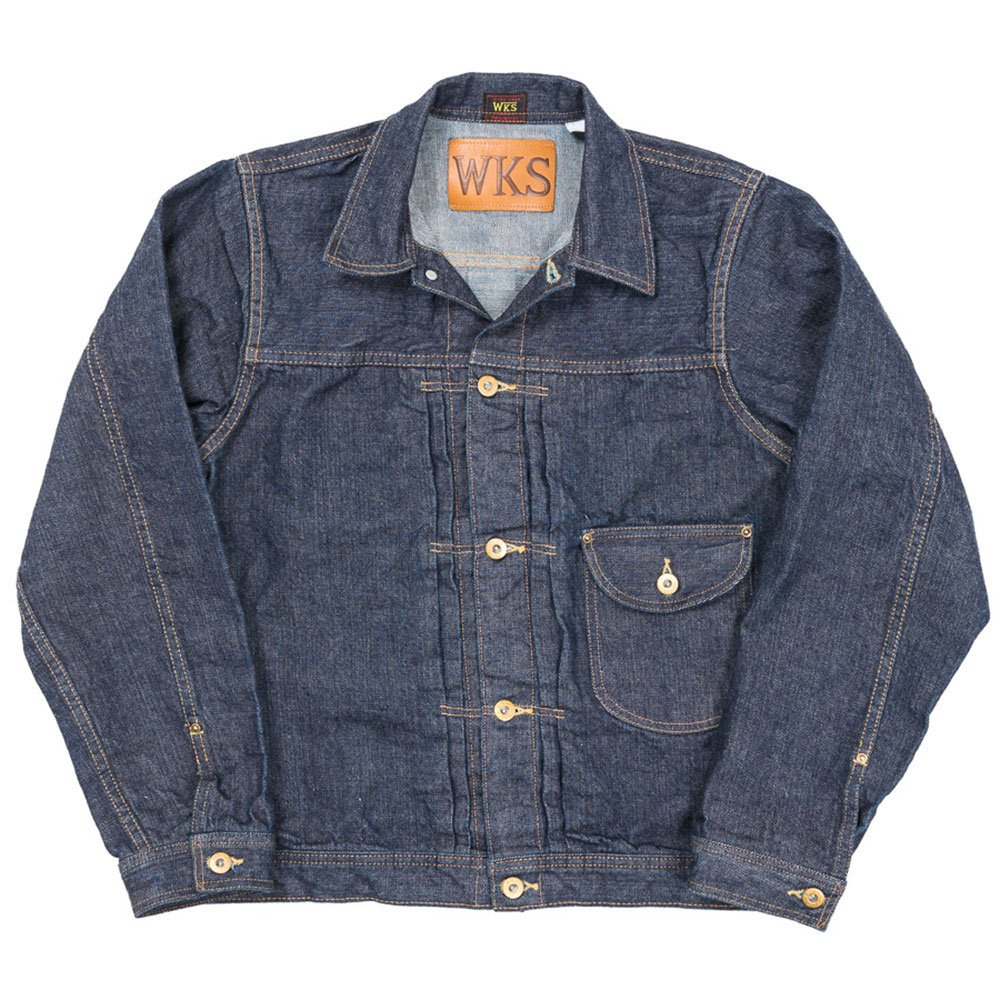 WORKERS K&TH / Cowboy Jacket 13.75 Oz, Left-Hand Weave, Raw Denim