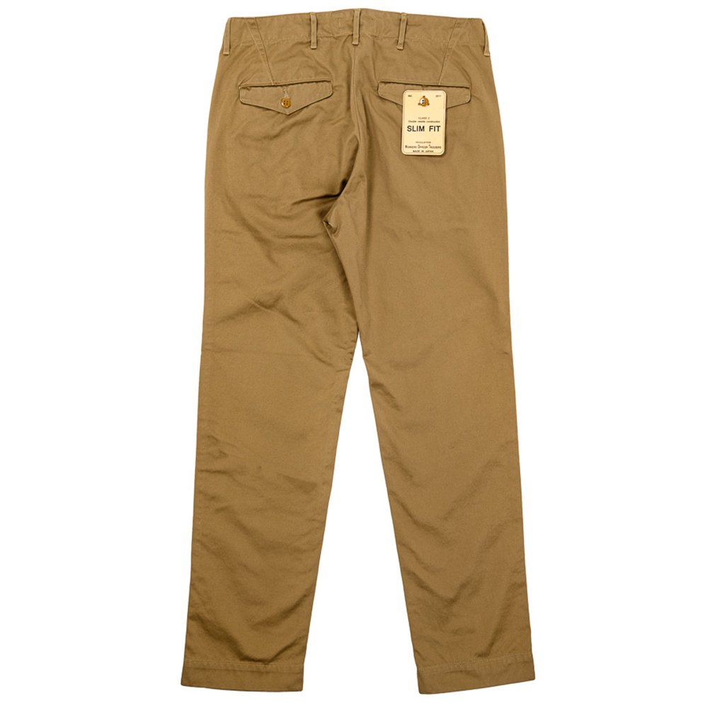 WORKERS K&TH /  Officer Trousers, Slim-Fit, Type 2, USMC Khaki