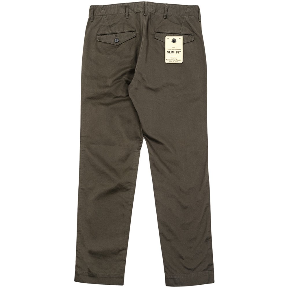 WORKERS K&TH /  Officer Trousers, Slim-Fit, Type 2, Chacoal Grey Chino