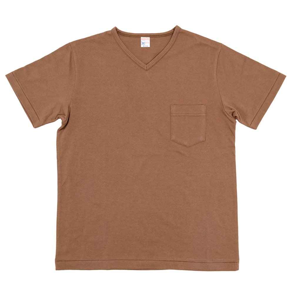 WORKERS K&TH / Pocket-T, V Neck, Coyote
