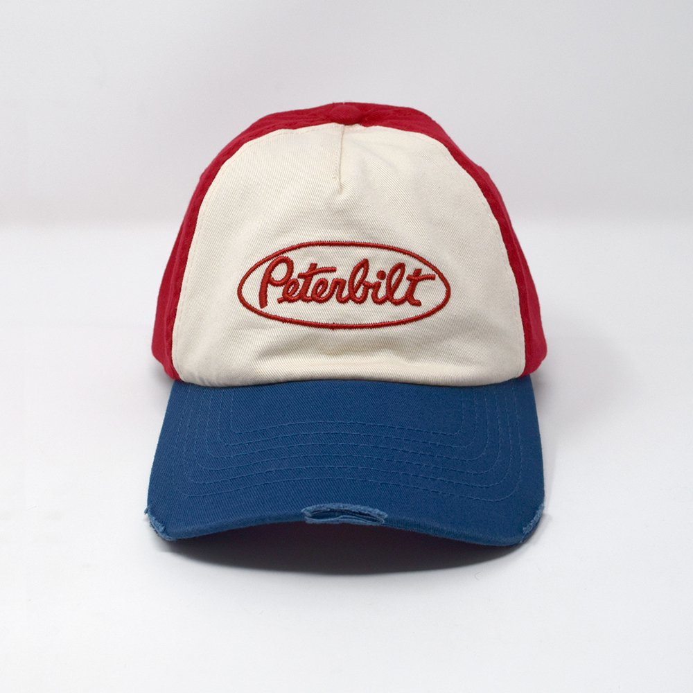 PETERBILT / WASHED VINTAGE FITTED HAT