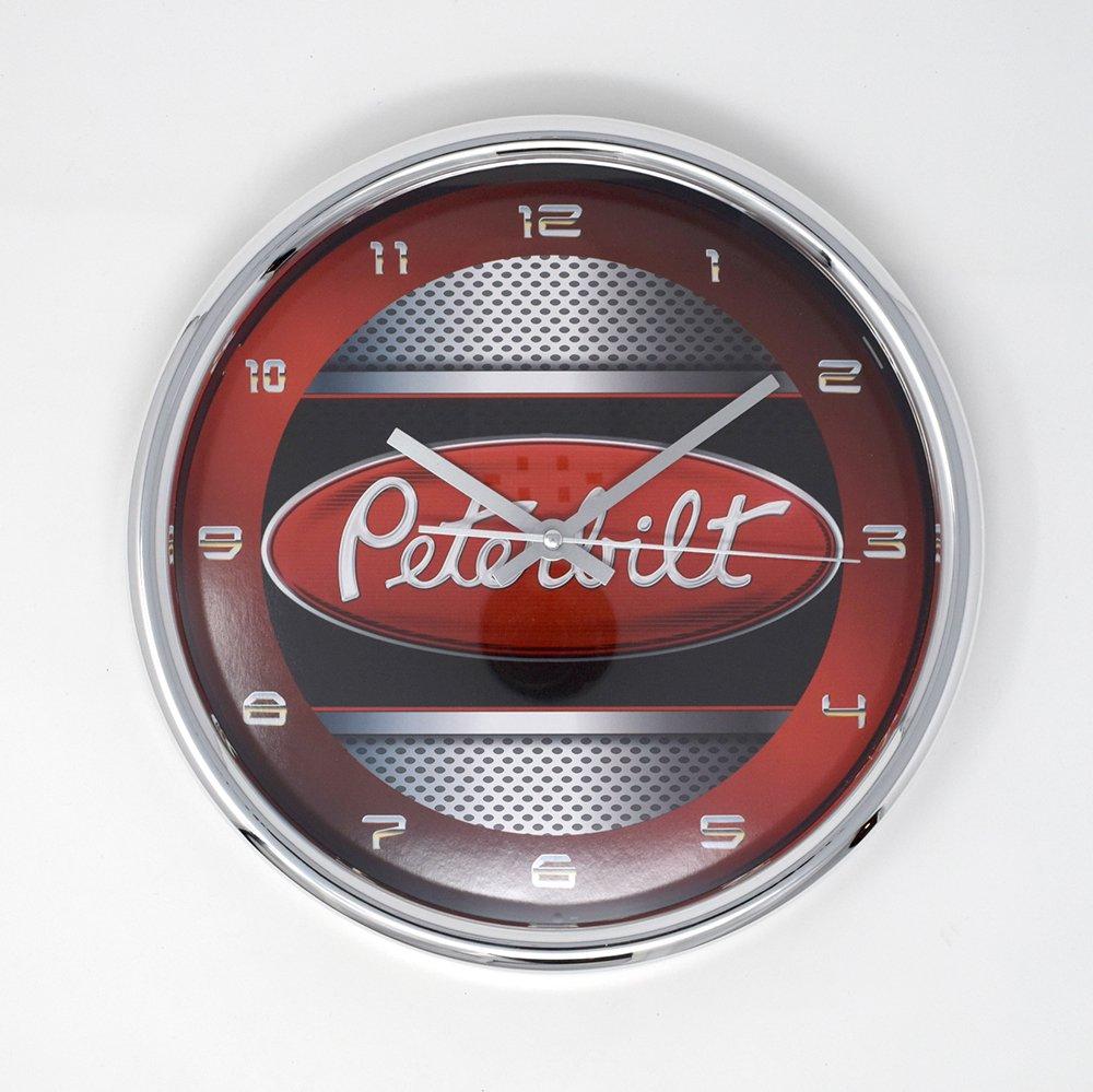 PETERBILT / CHROME WALL CLOCK
