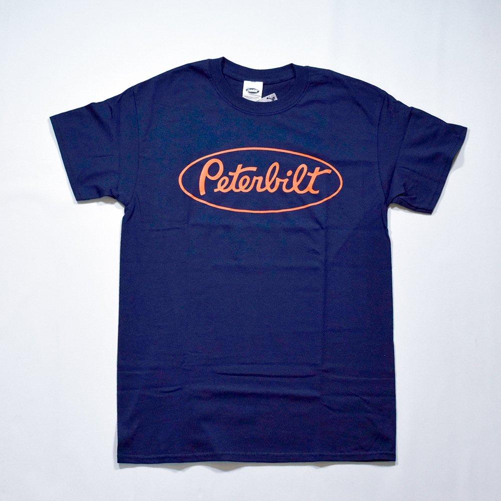 PETERBILT / ORANGE PETERBILT LOGO T-Shirt, Navy