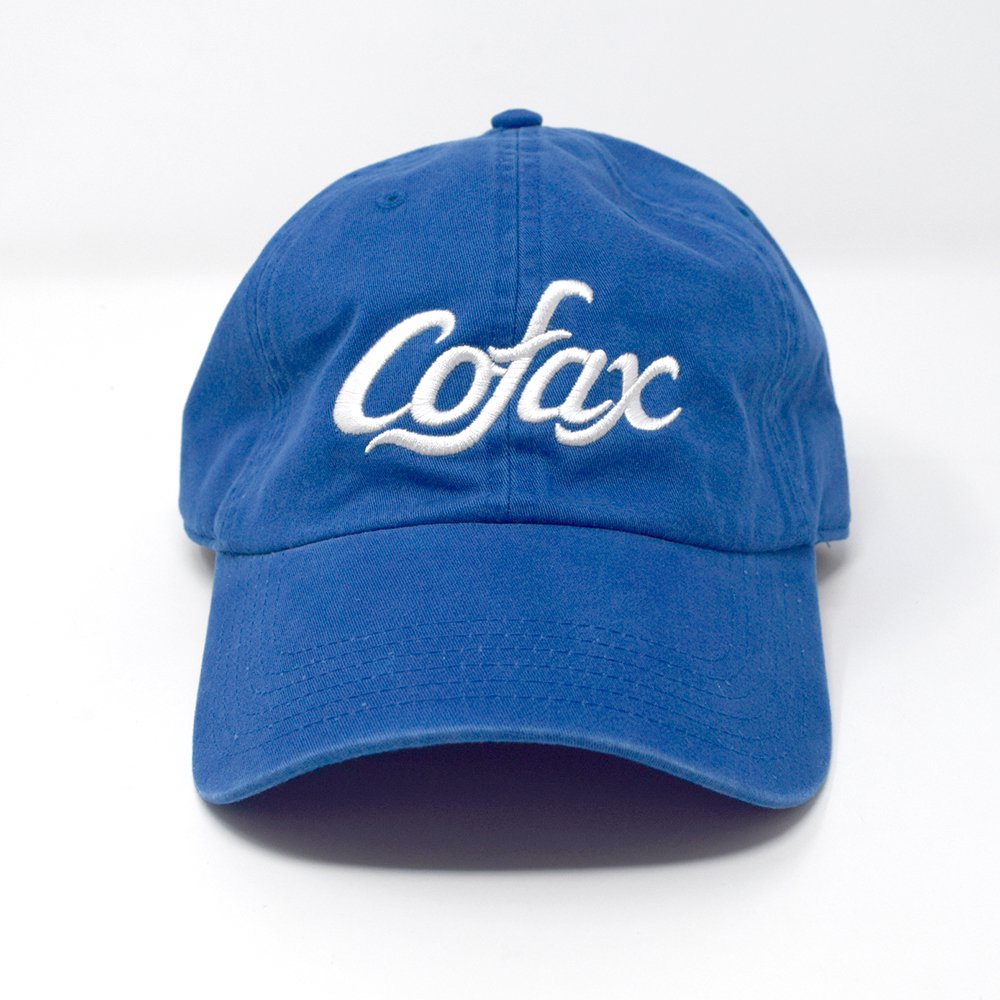 Cofax Coffee / Slim fit Dad Hat, Blue